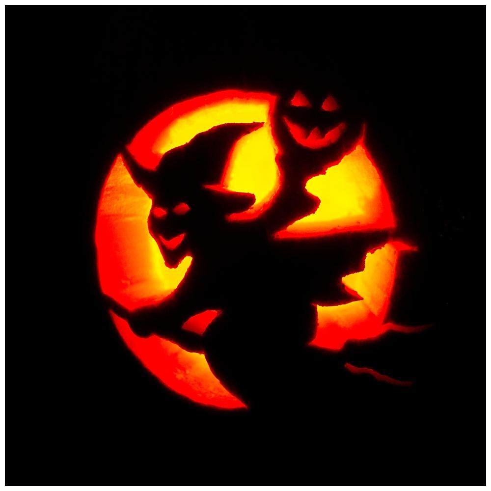 witch jack-o-lantern for Halloween