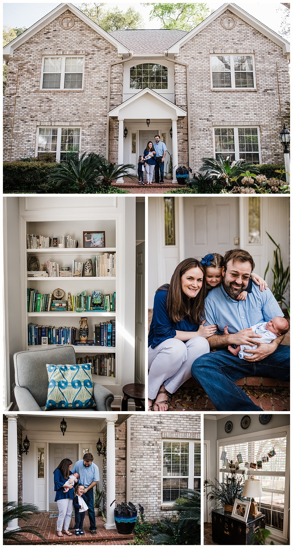 at-home lifestyle newborn photos in Ocean Springs, Mississippi