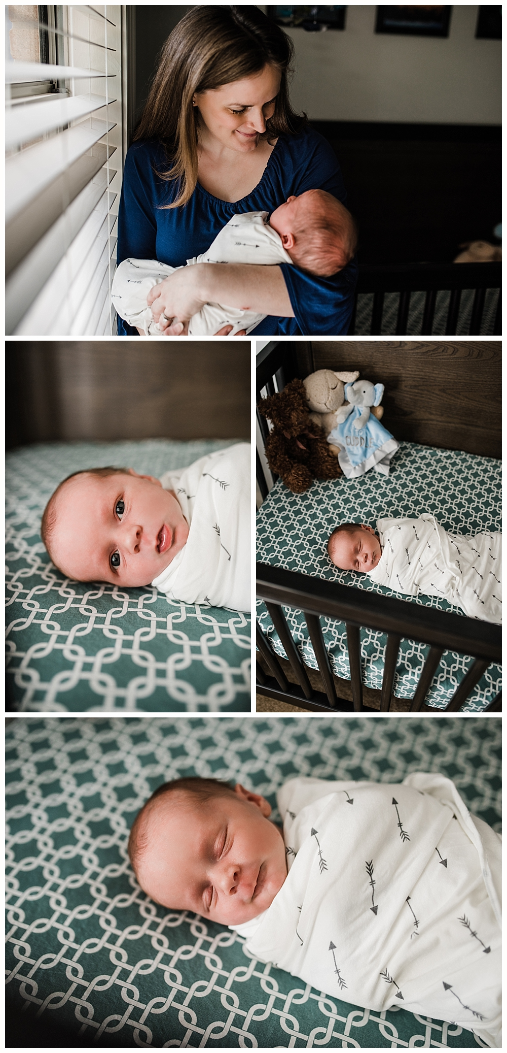 baby boy sleeping nursery - Ocean Springs newborn photos