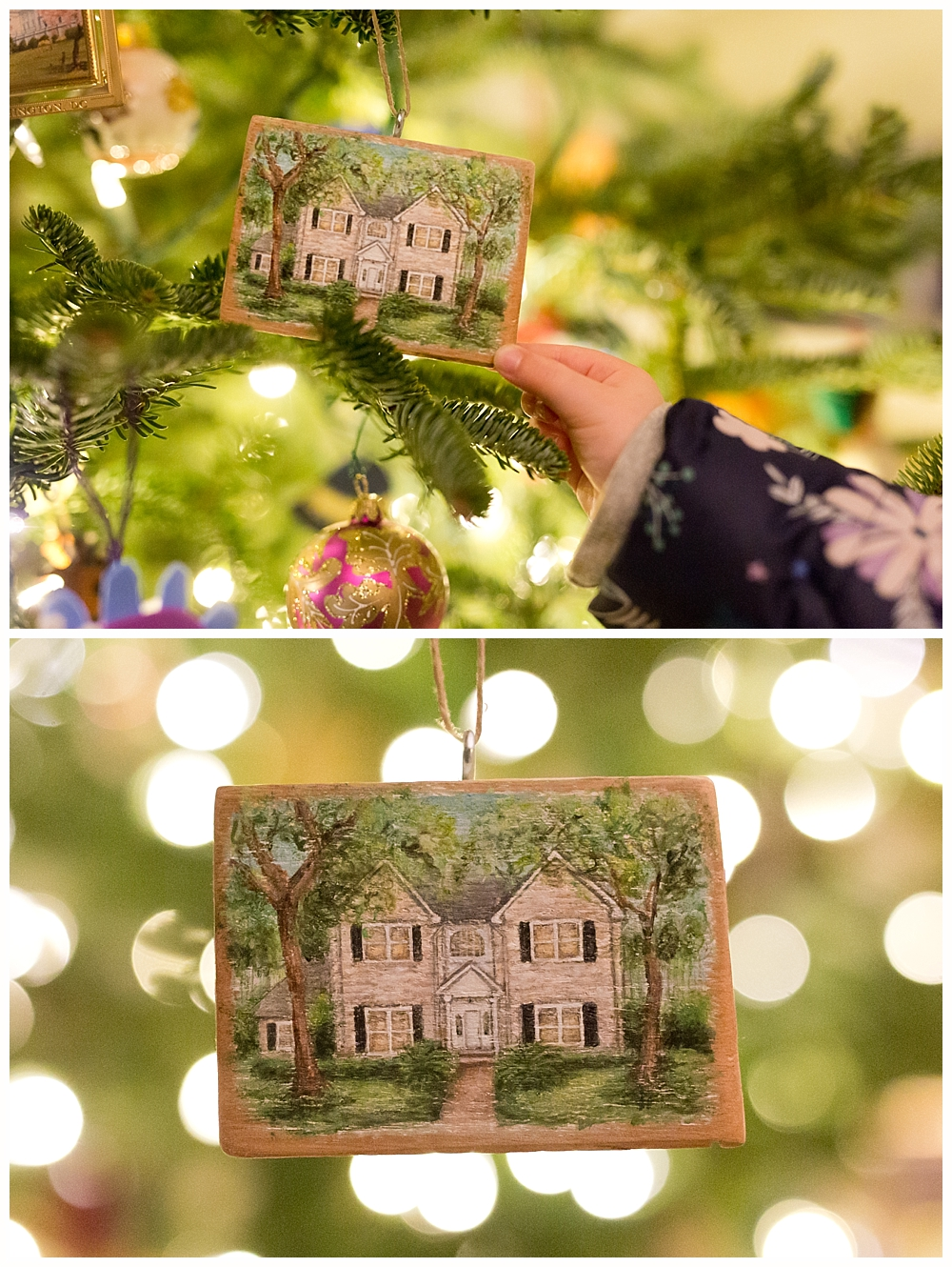 personalized home painting Christmas ornament
