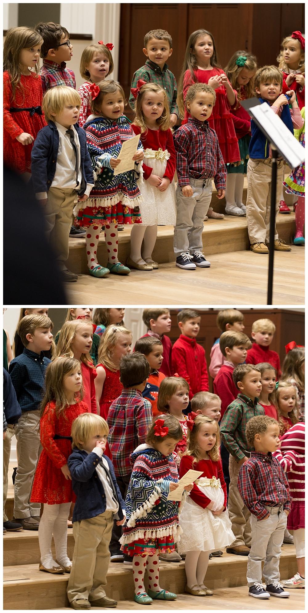 preschooler Christmas choir