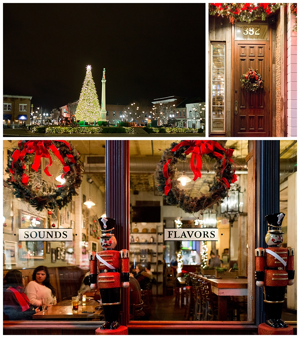 Gray's Restaurant in Franklin, TN at Christmastime at night