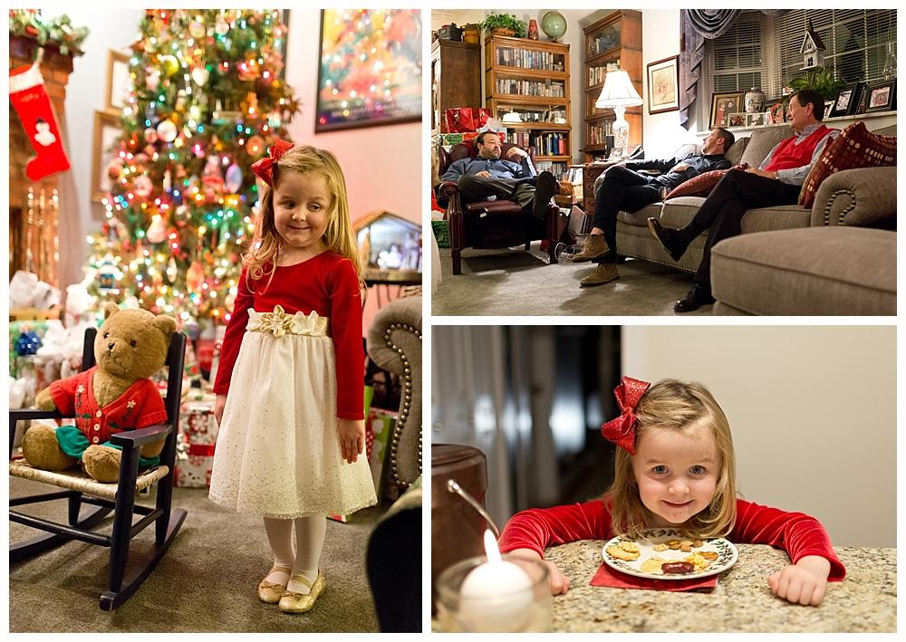 Christmas Eve celebration at home