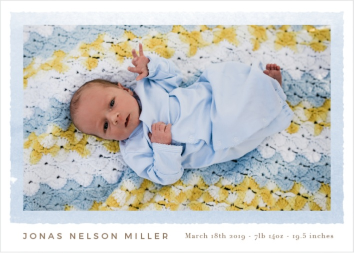birth announcement by Basic Invite