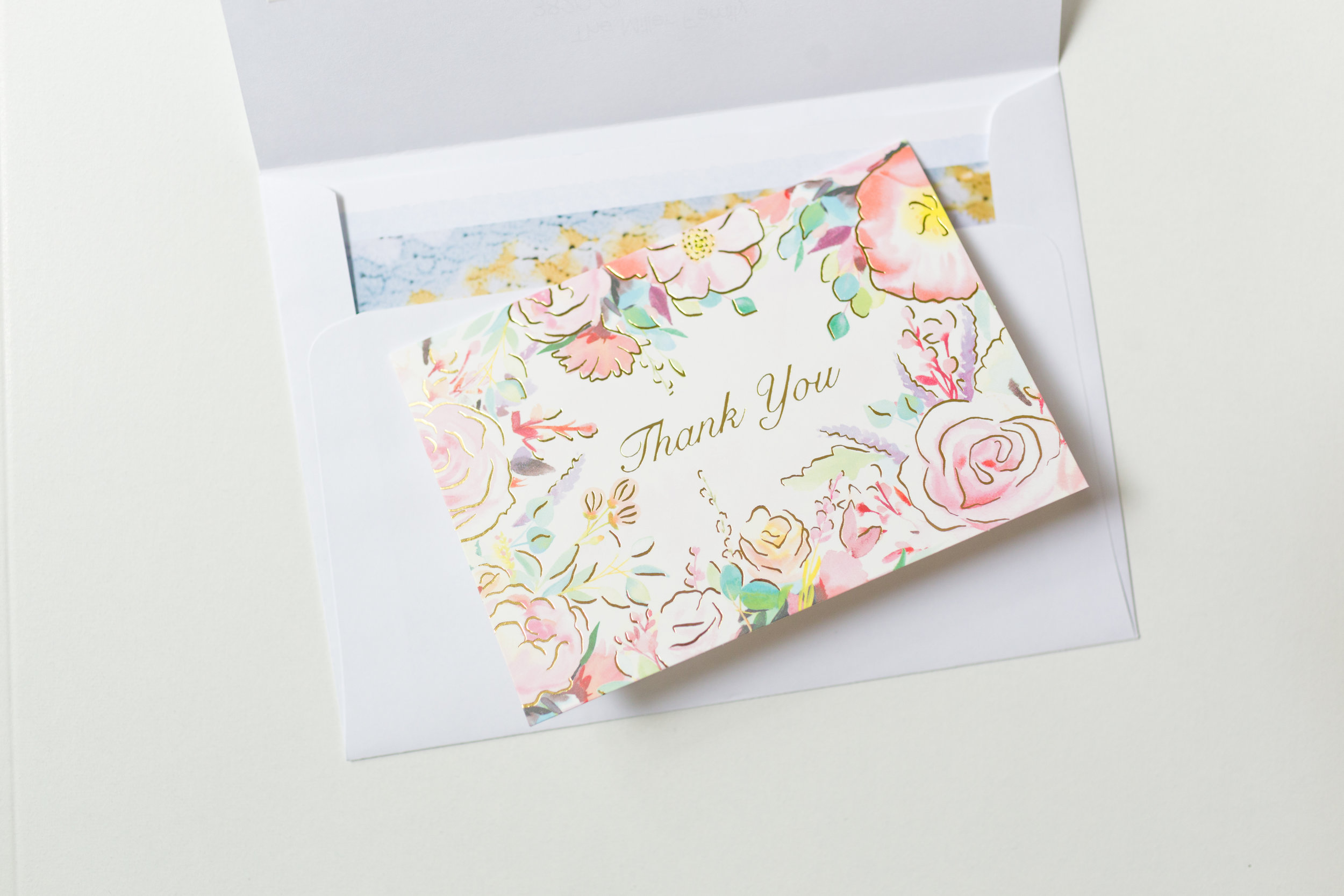 thank you note in birth announcement