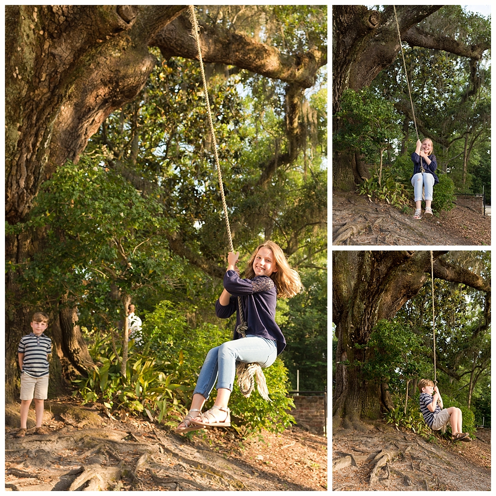 rope swing at First Presbyterian Church in Ocean Springs, Mississippi