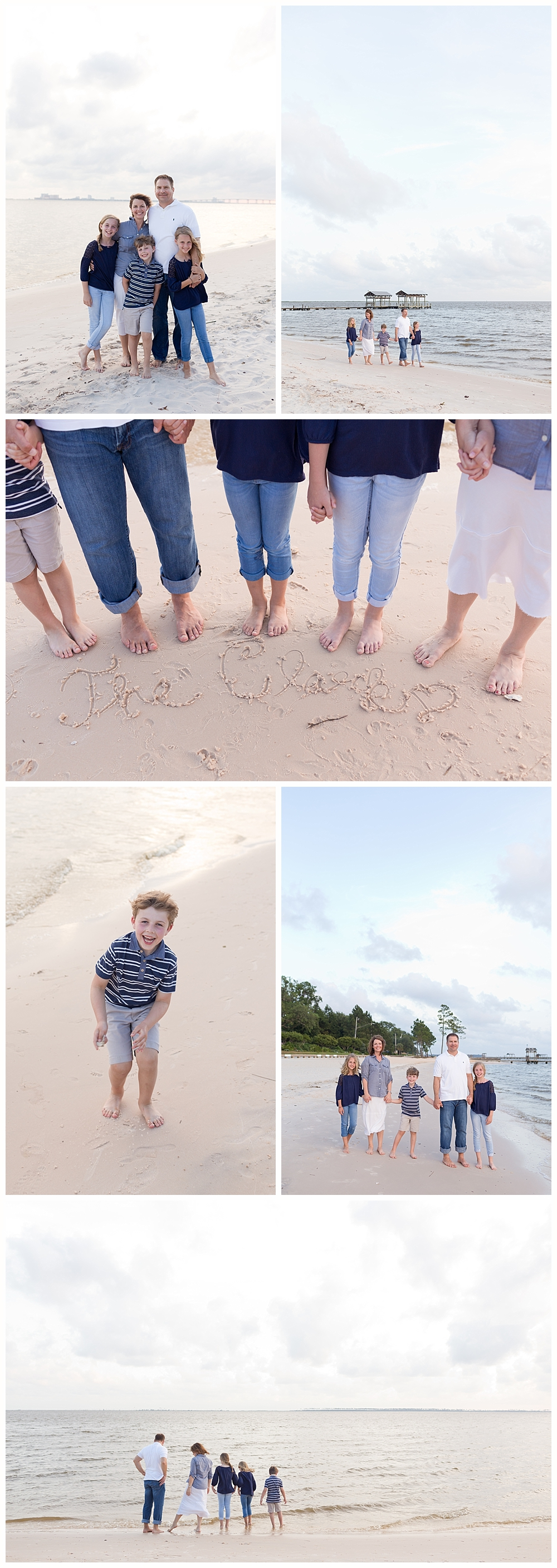 family pictures on East Beach - Ocean Springs family photographer