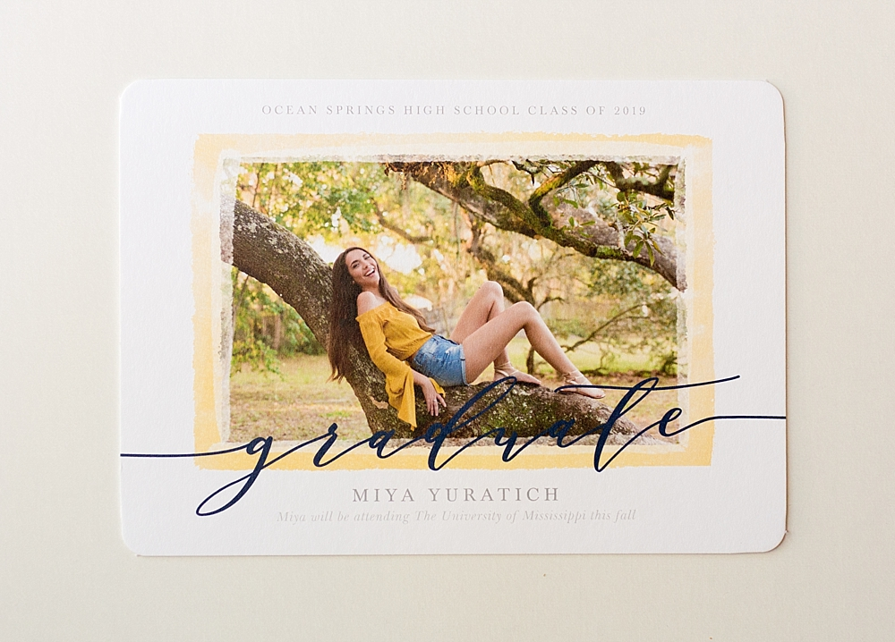 senior casuals in Ocean Springs, Mississippi - graduation announcements