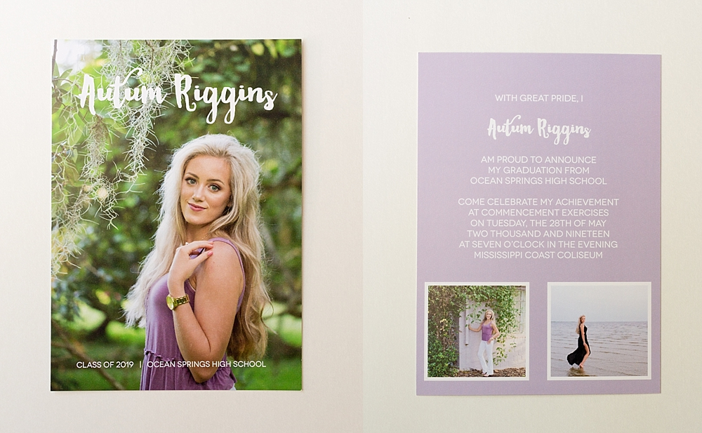 Ocean Springs senior casuals - Ocean Springs High School graduation announcements