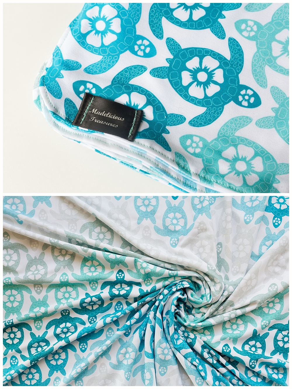 sea turtle baby blanket by Madelicious treasures - product photographer in Ocean Springs, MS