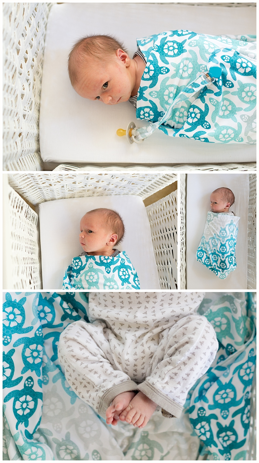 cute baby boy with sea turtle blanket