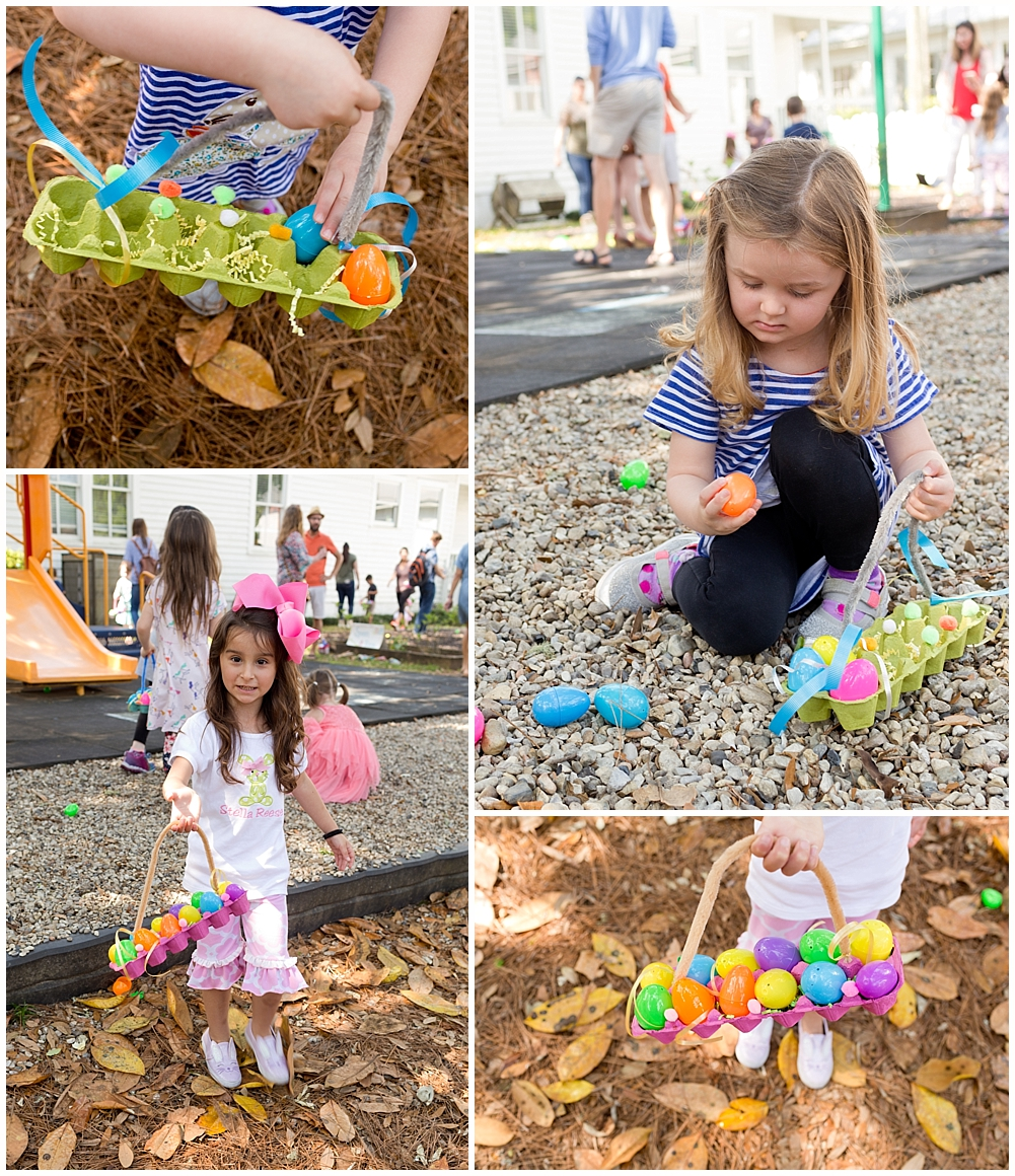 Montessori preschool Easter egg hunt