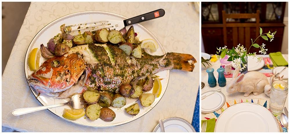 seafood Easter dinner