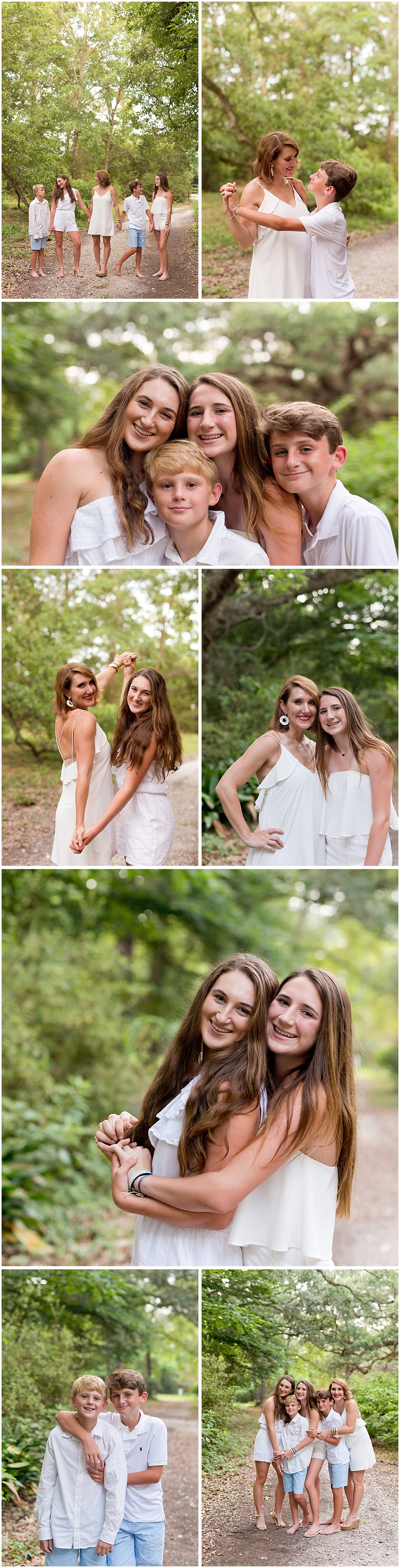outdoor family pictures in Ocean Springs, Mississippi