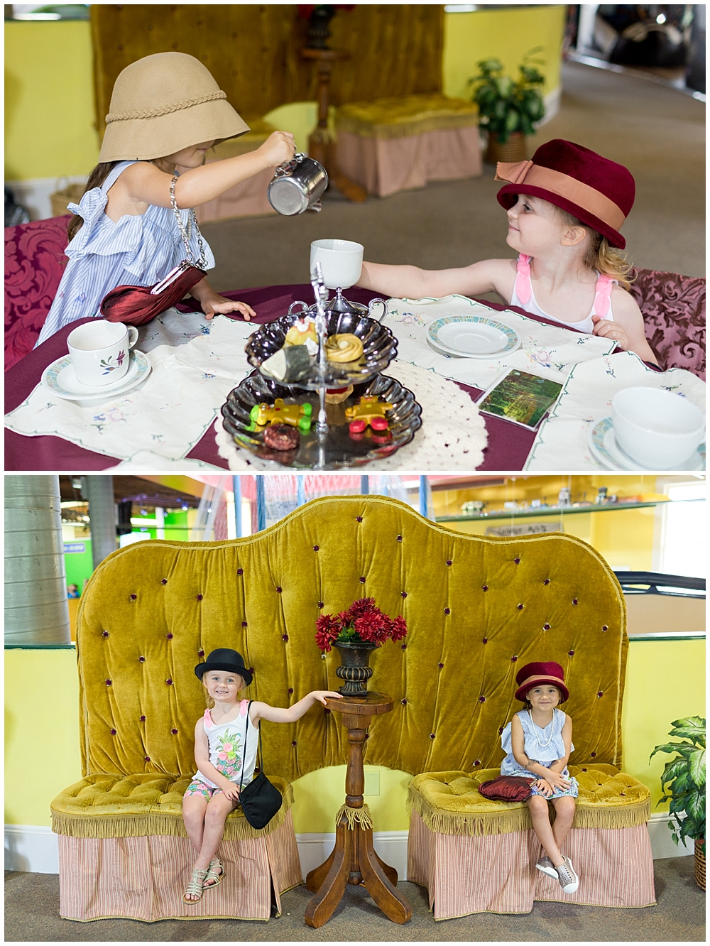 girl having tea party at Lynn Meadows Discovery Center in Gulfport, Mississippi