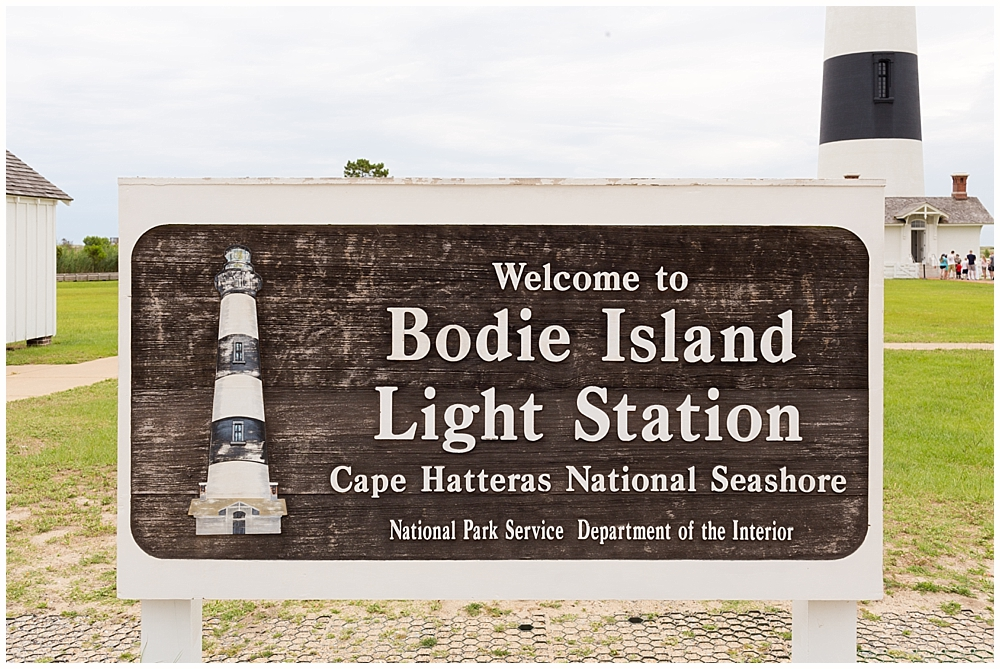 sign at Bodie Island lighthouse