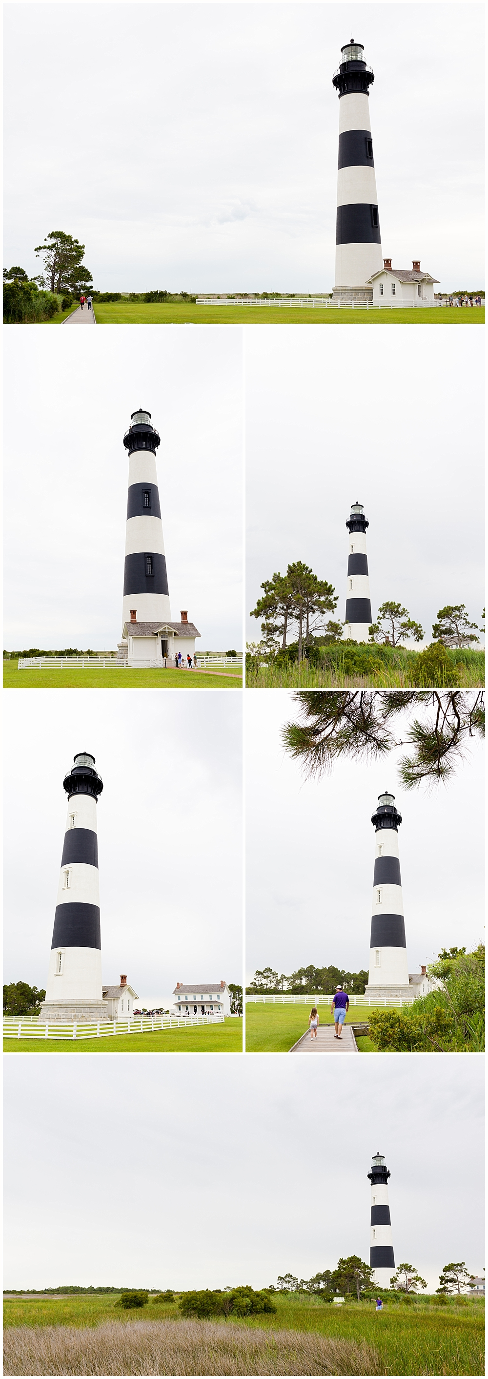 various angles of Bodie Island lighthouse - Outer Banks, NC