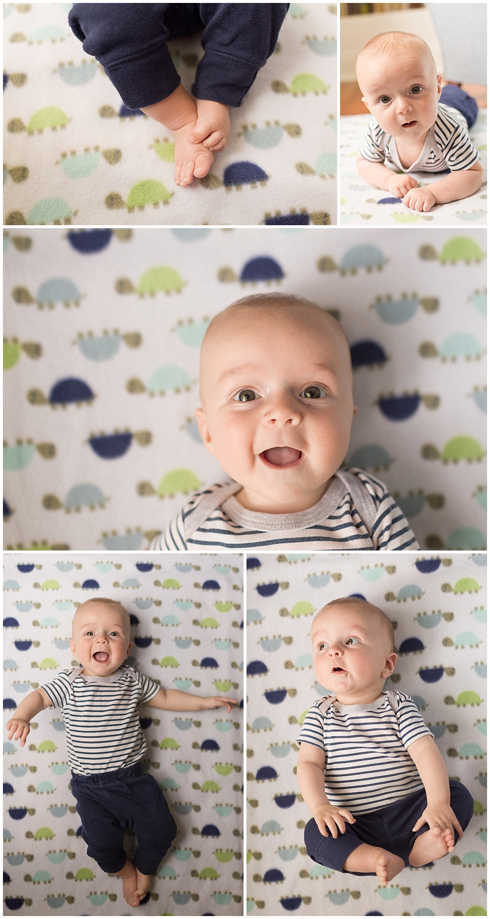 four month old baby boy - baby photographer in Ocean Springs, MS