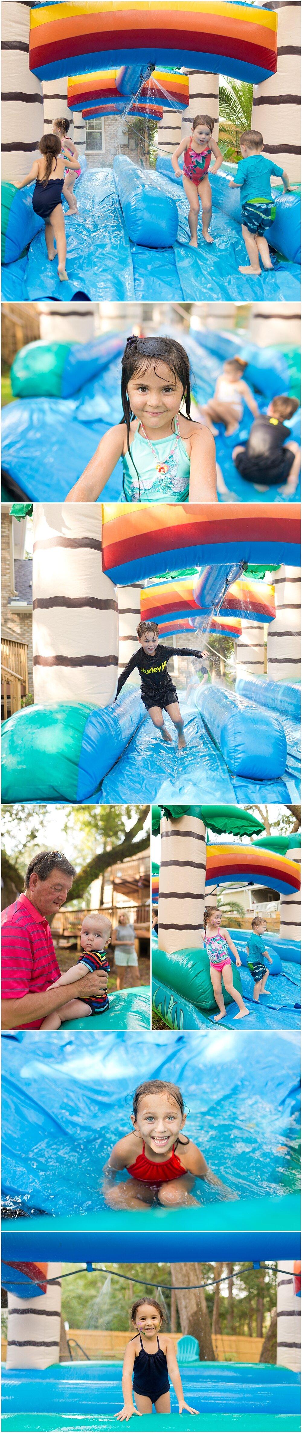 rainbow water slide for kids birthday party in Ocean Springs, MS