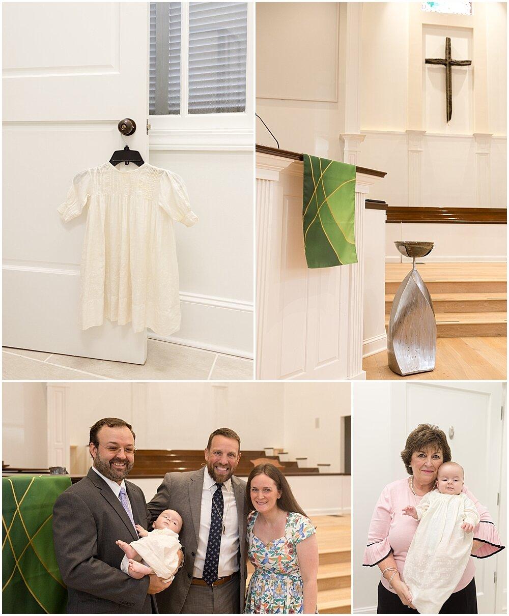 little boy in antique christening gown
