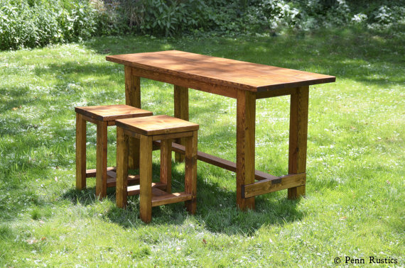 Rustic Farmhouse Counter Height Table with Two Stool Set.jpg