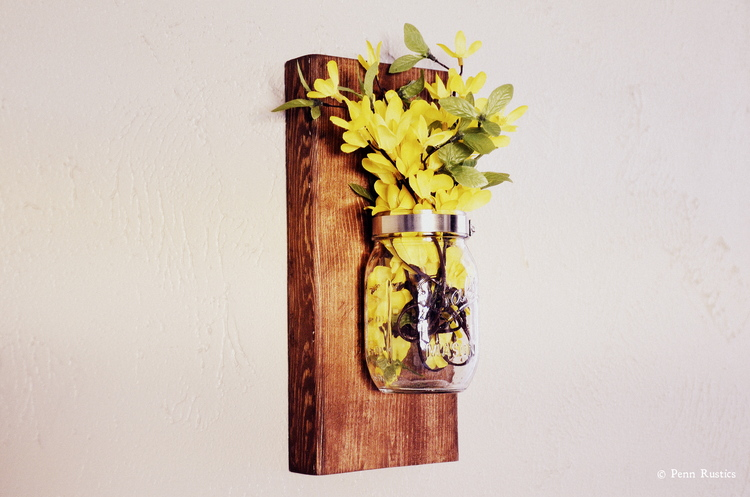 EVERYDAY RUSTIC WOODEN MASON JAR SCONCE.jpg