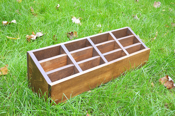 Everyday Rustic Wood Multi Brochure Holder Display with Risers.jpg