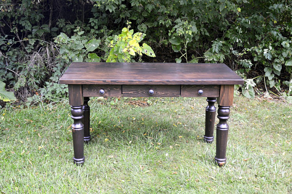 Turned Leg Rustic Desk.jpg