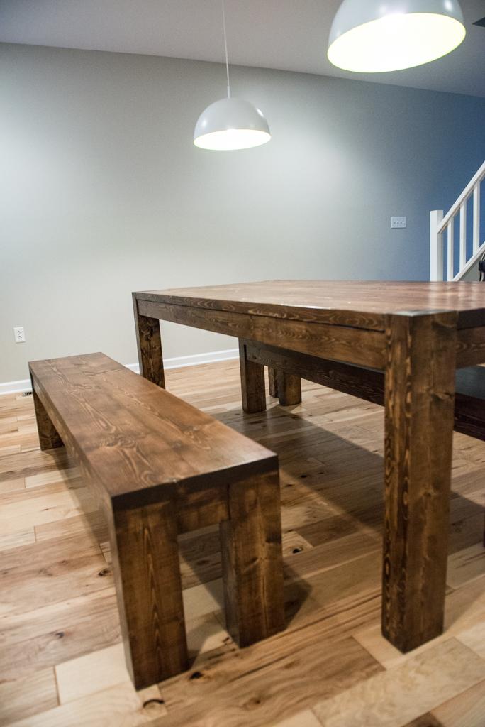 Modern Rustic Table and Bench Set. Eva2.jpg