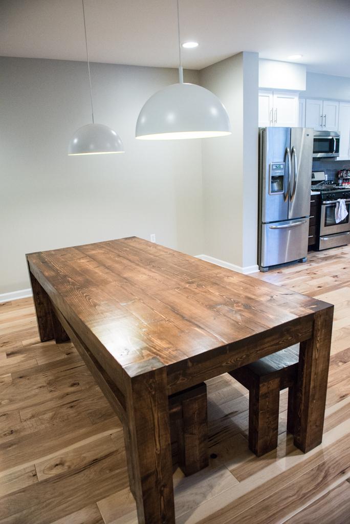 Modern Rustic Table and Bench Set. Eva.jpg