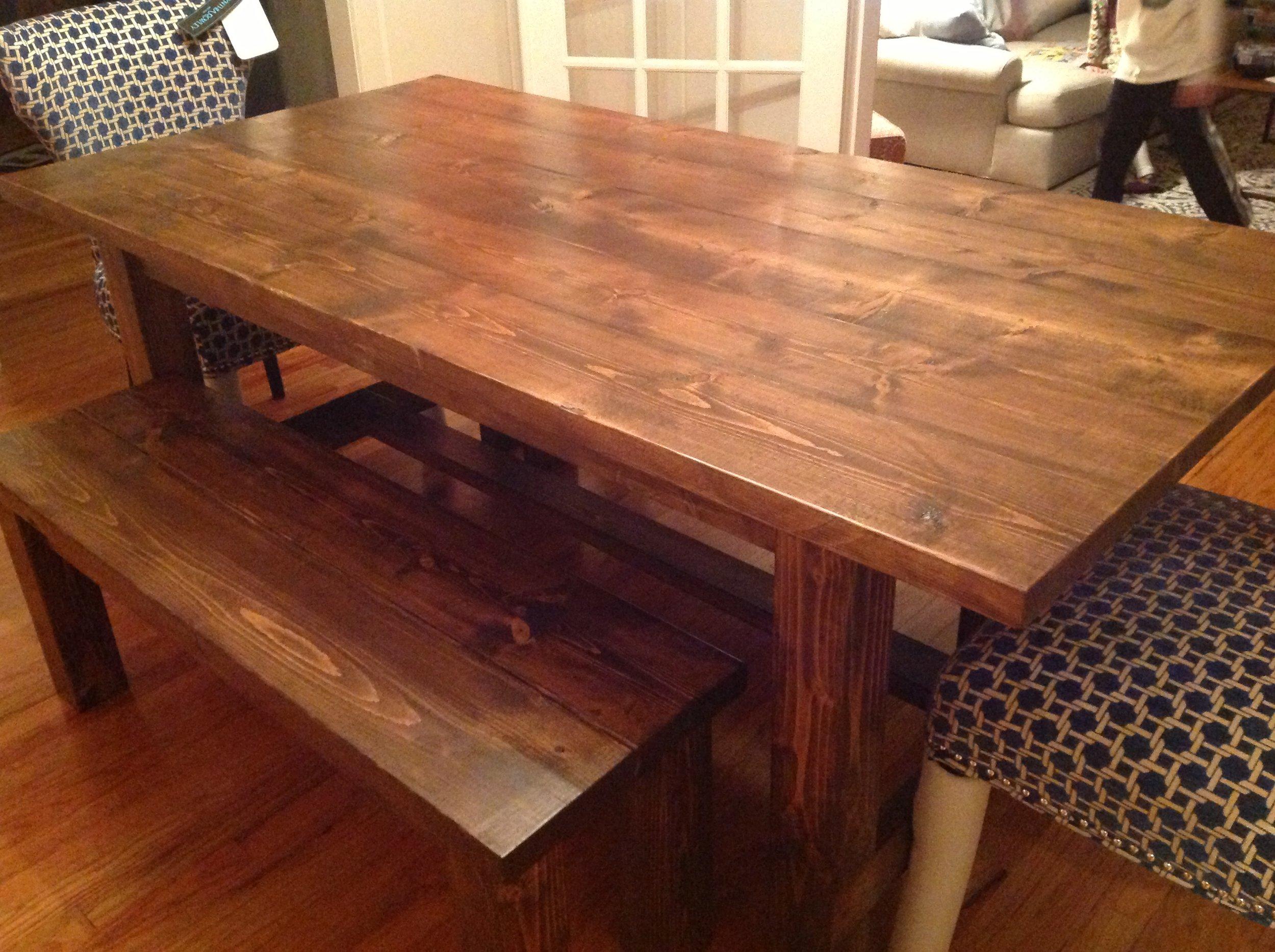 Farmhouse Table and Bench Set. Van Wormer.JPG