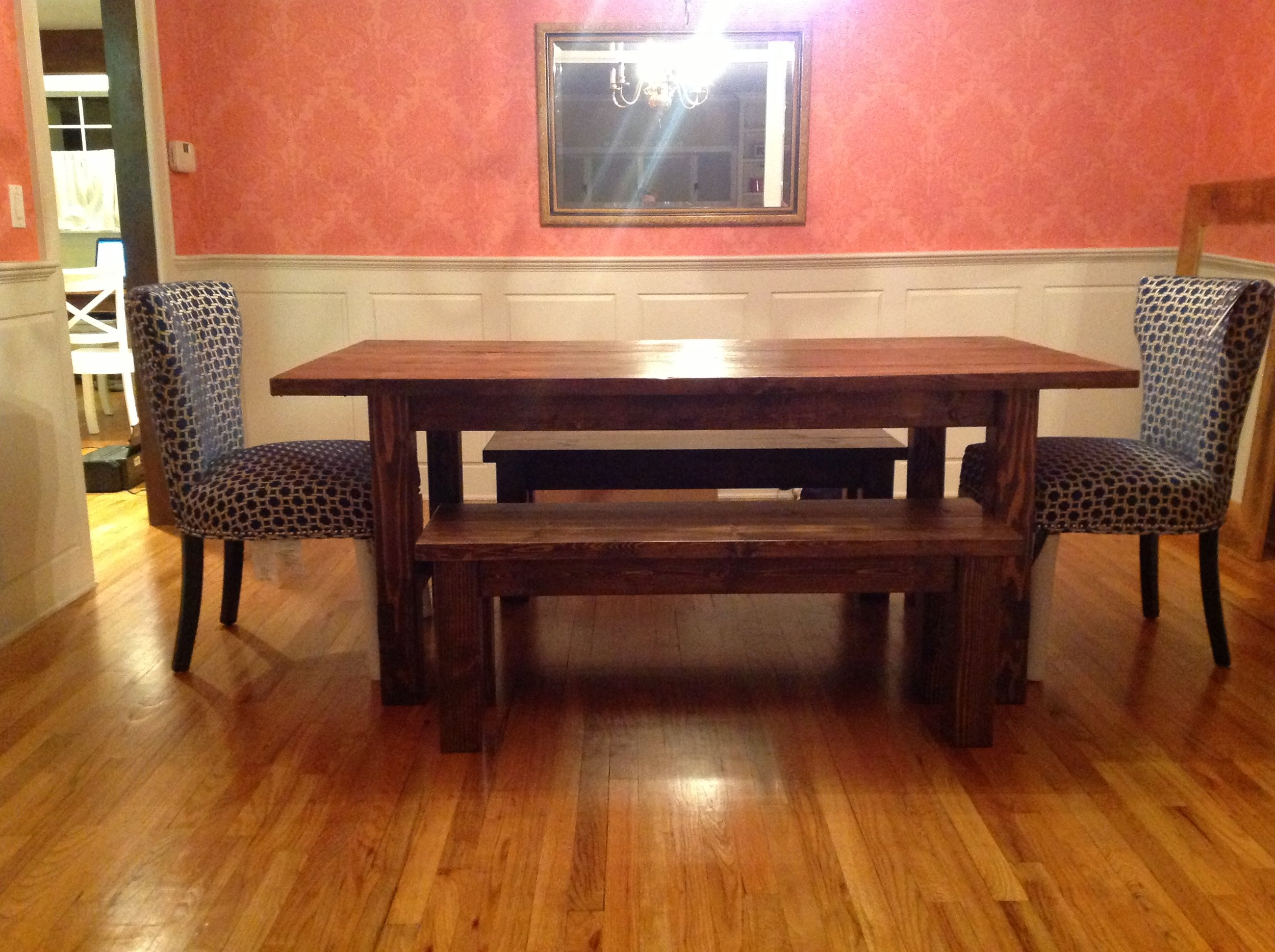 Farmhouse Table and Bench Set. V.JPG