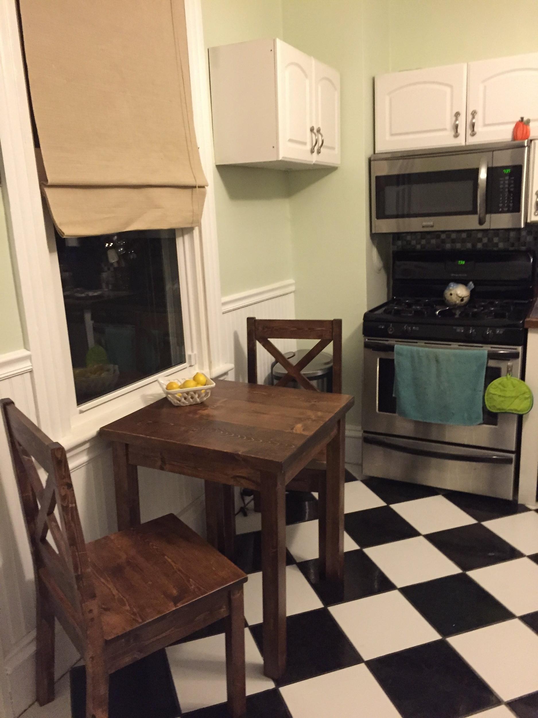 Rustic Farmhouse Bistro Table. Pope2.jpg