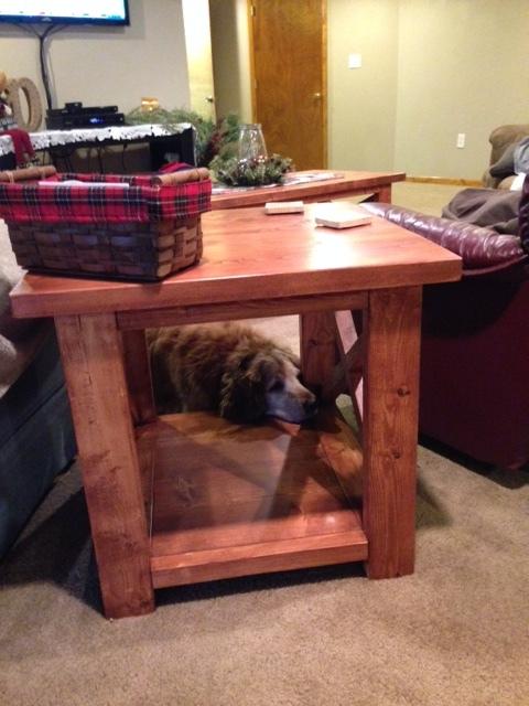 Rustic X Side Table. Huck.JPG