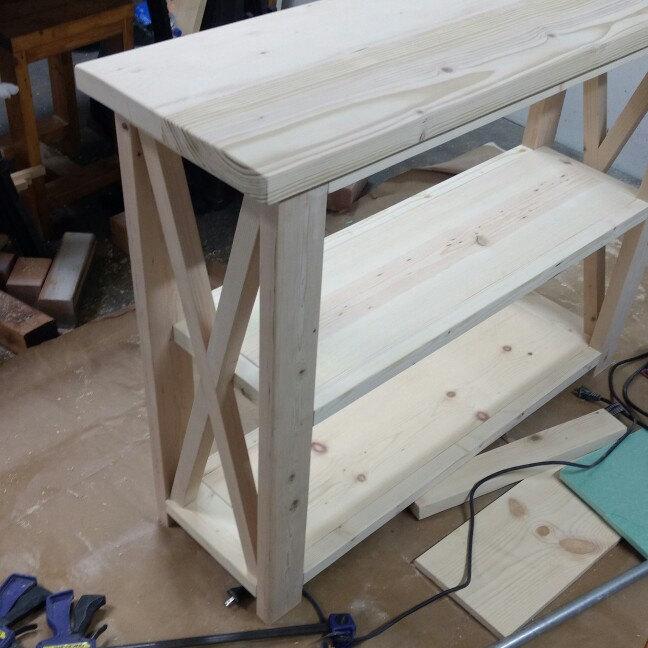 custom rustic x entryway table.jpg