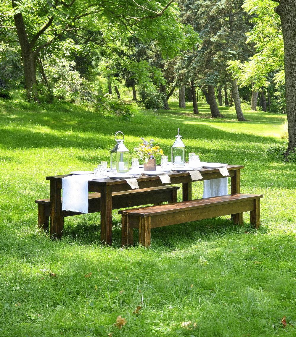Penn Rustics_Farmhouse Table and Bench Set.jpg