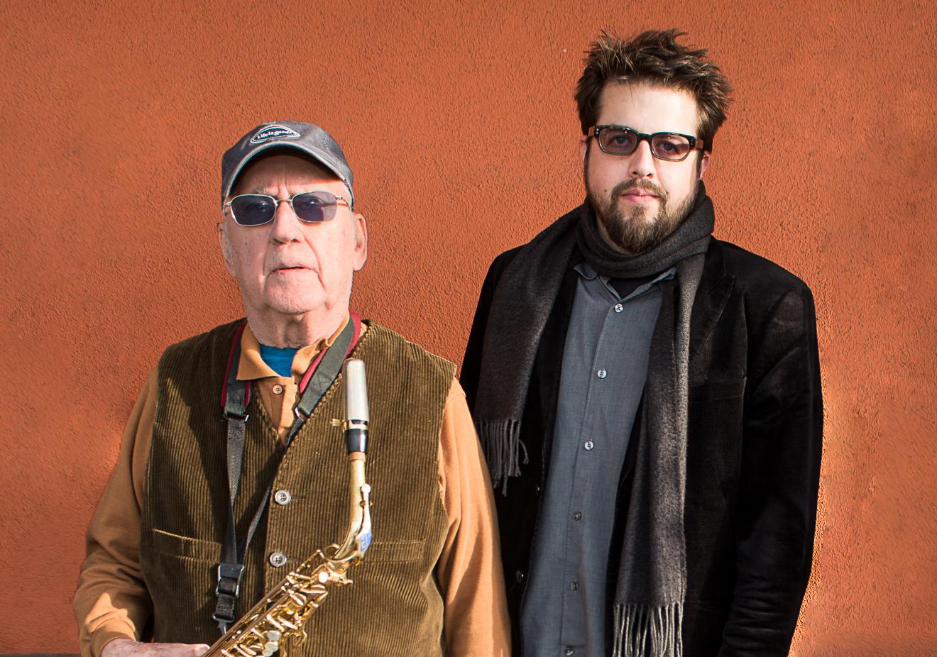 Jeff Denson & Lee Konitz, photo by James Knox