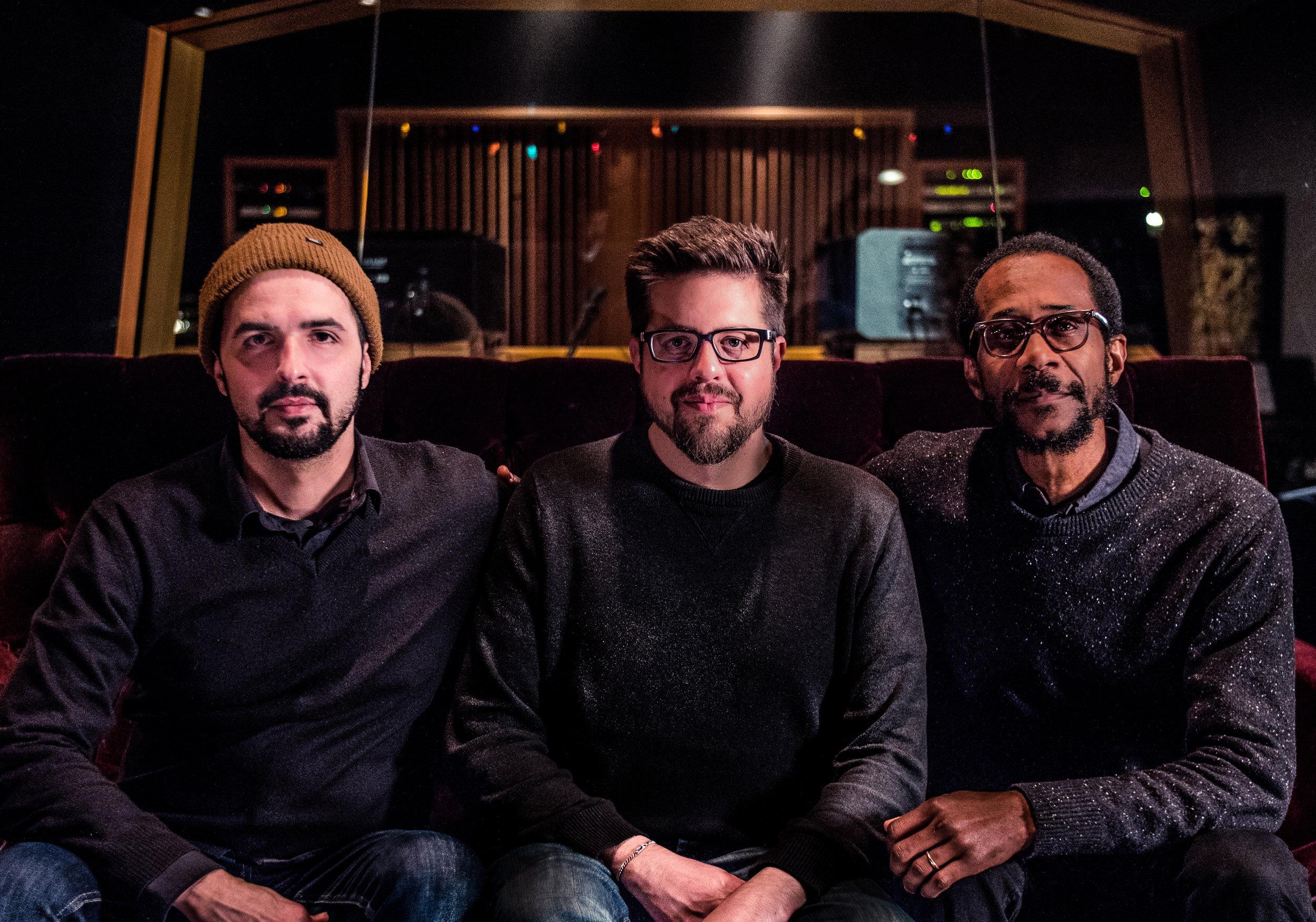 Romain Pilon, Jeff Denson and Brian Blade Photo by Omud Zoufonoun