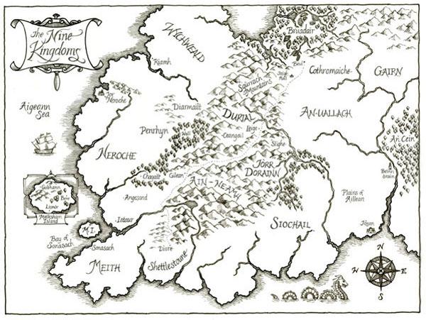 The Nine Kingdoms - Black and White version