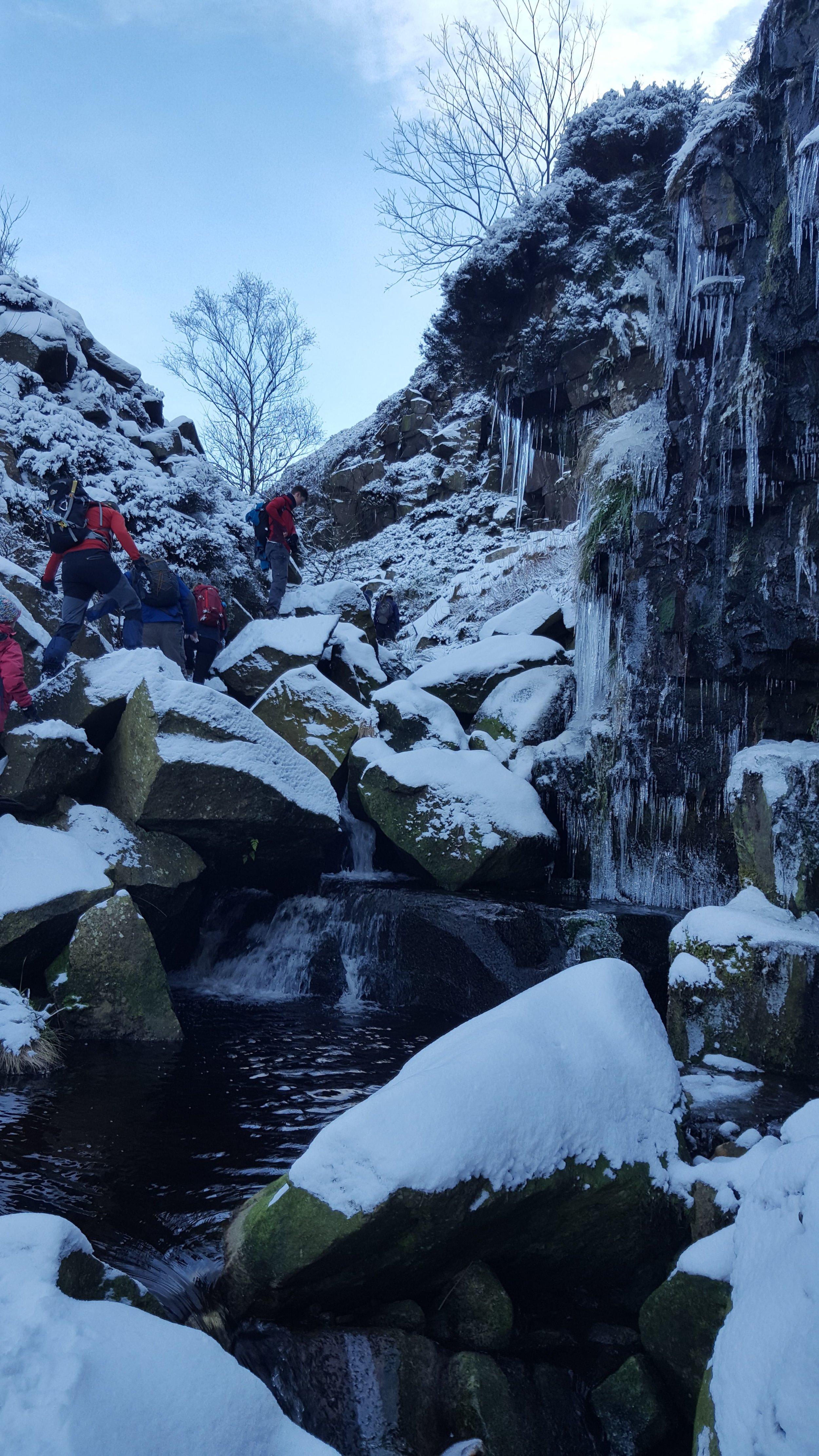 Gill Scrambling in Winter