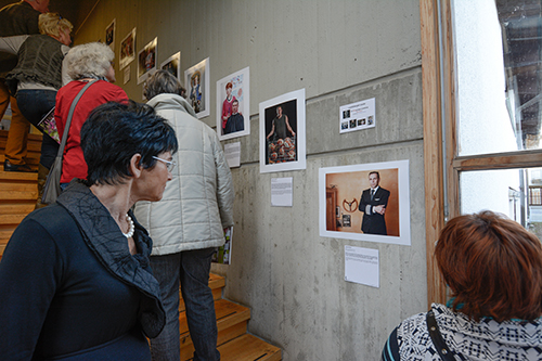 Visitors at the Local Art Society Show