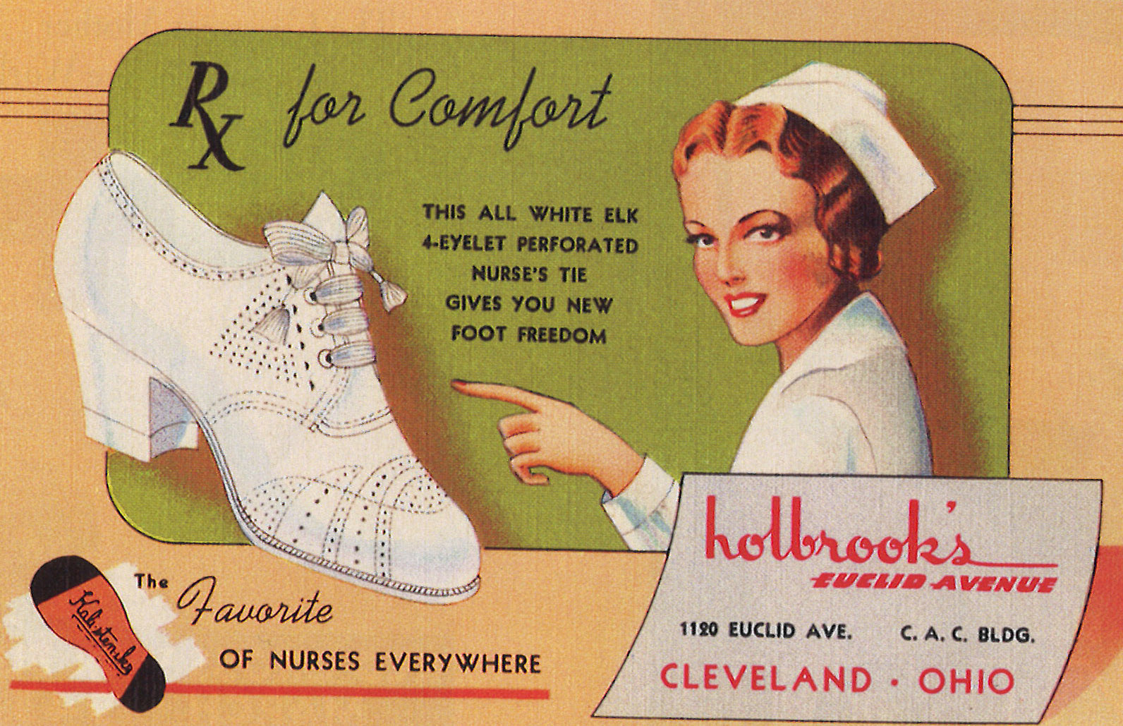 Holbrook's Shoes. Linen. 1939.
