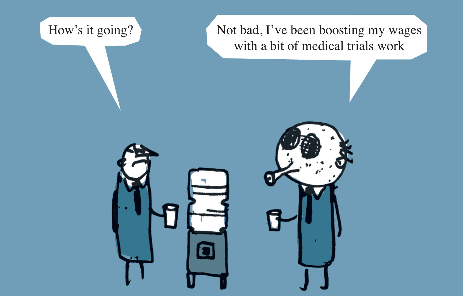 MODERN TOSS - WEEK 2   We continue with health related observations from Modern Toss - cartoonists and animators as seen in The Guardian, Private Eye and The Sunday Times. This week: Medical Trials.
