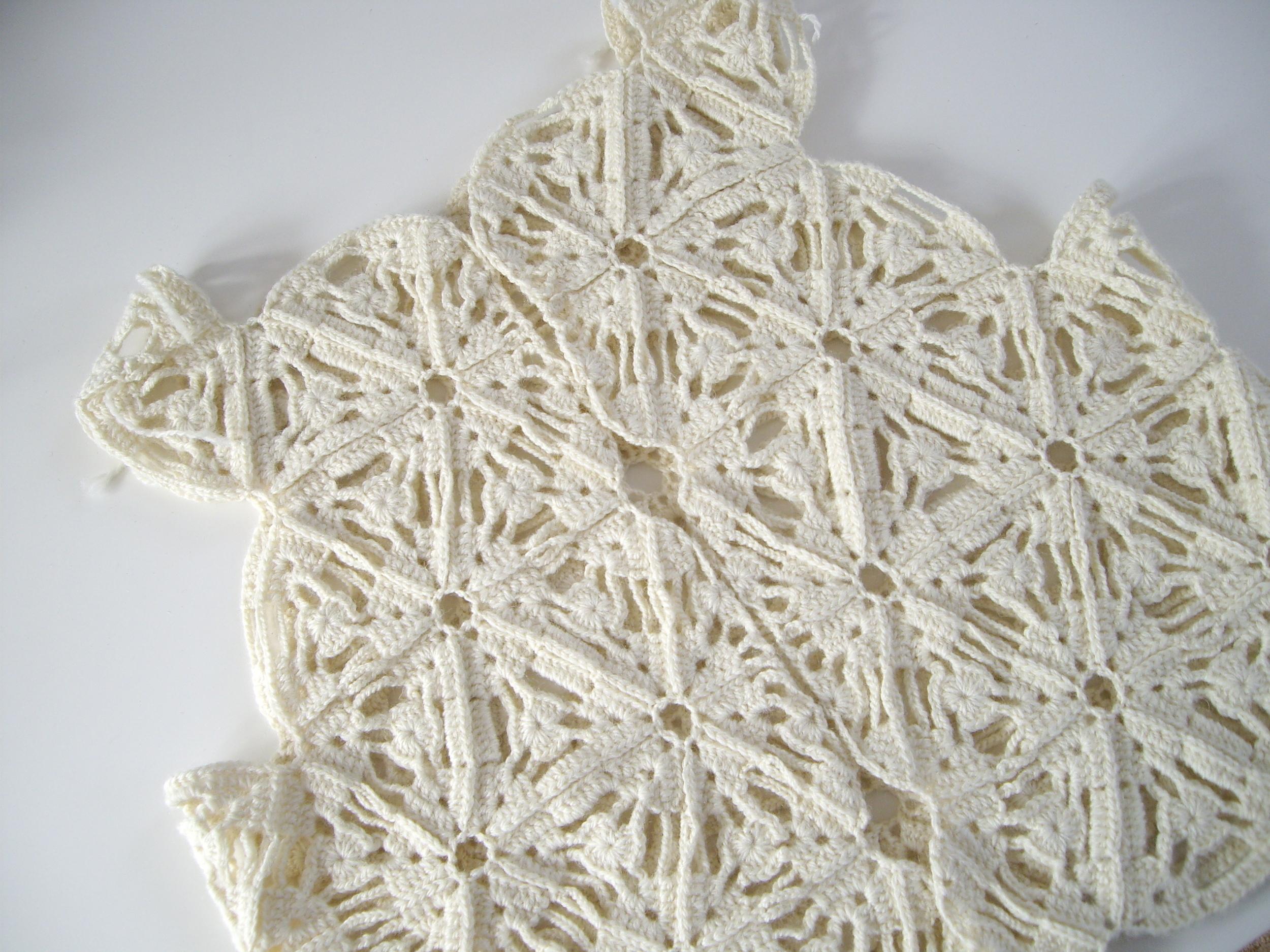 Crochet Bomber Jacket in progress