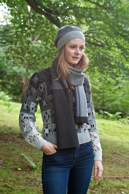 Lambswool Crochet Jacket