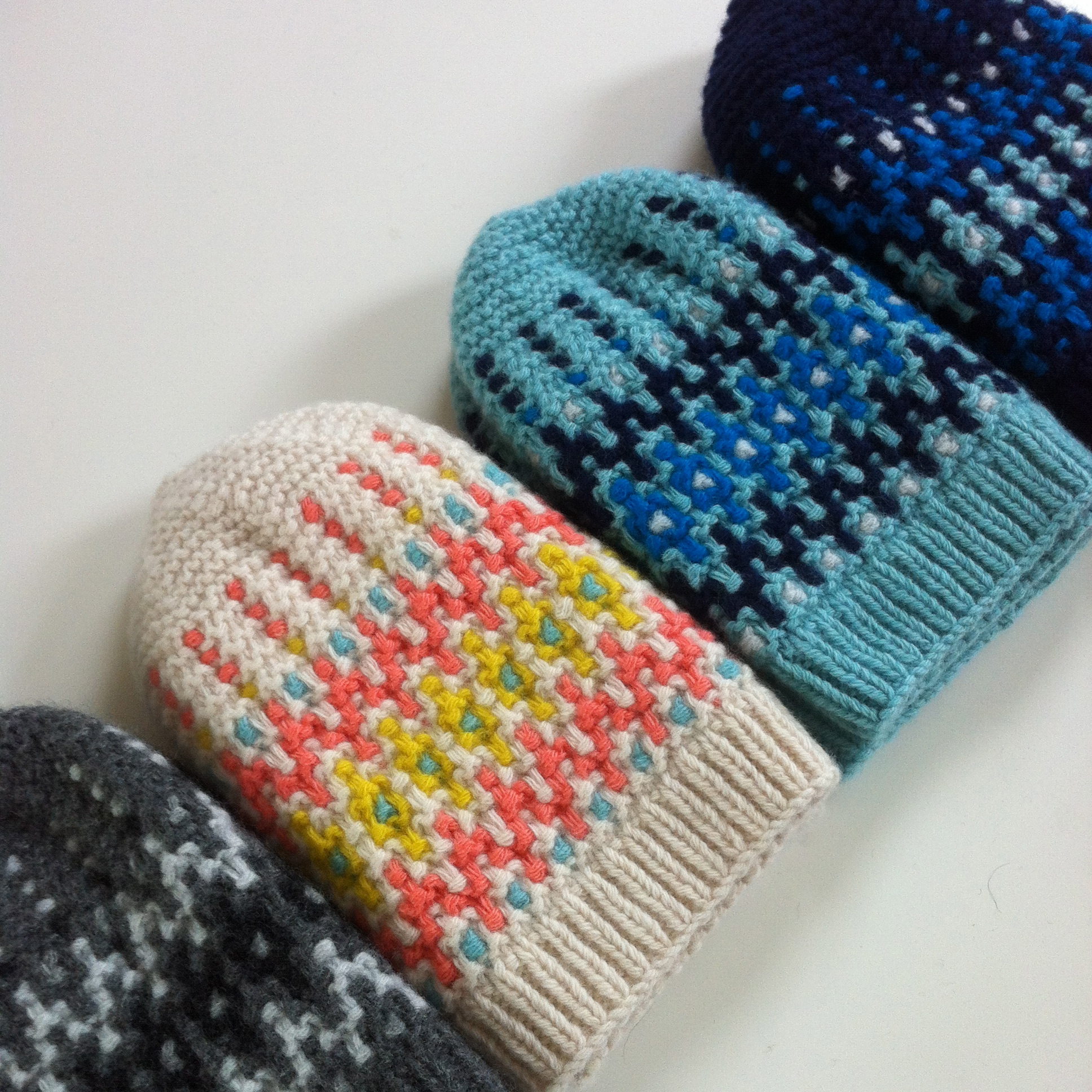 Eildon hand knitted hats in luxurious soft wool