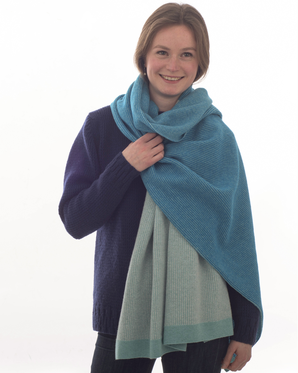 Iona wrap made with finest soft wool, and made in the Scottish Borders