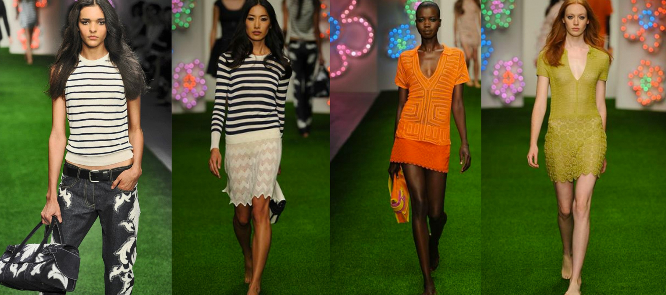 The pieces of fine knit and crochet I made for Jasper Conrans SS13 collection.