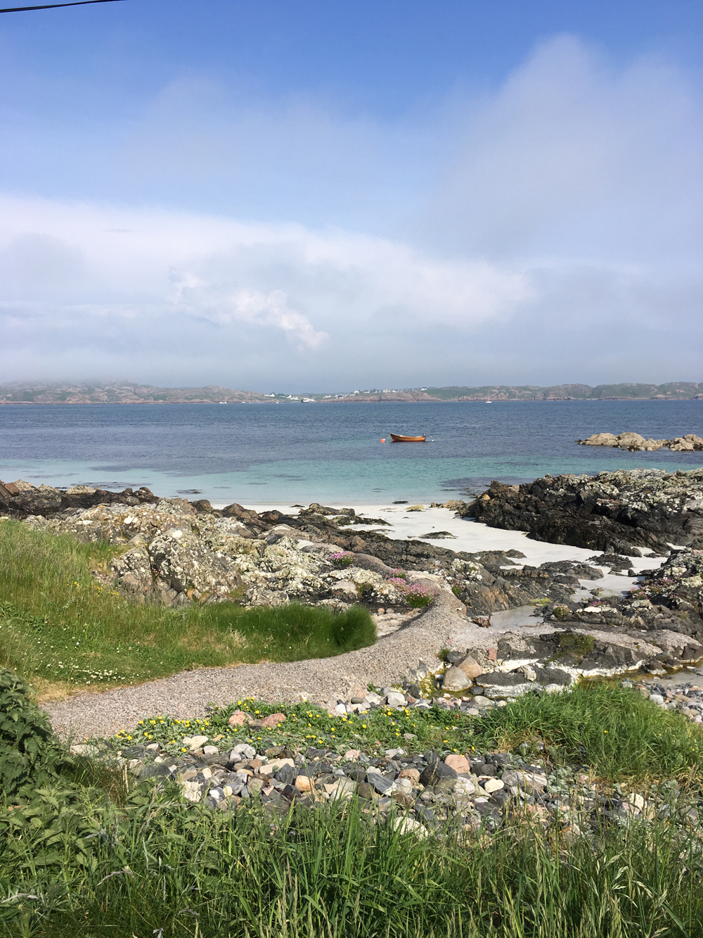 The beach by the pier on Iona.