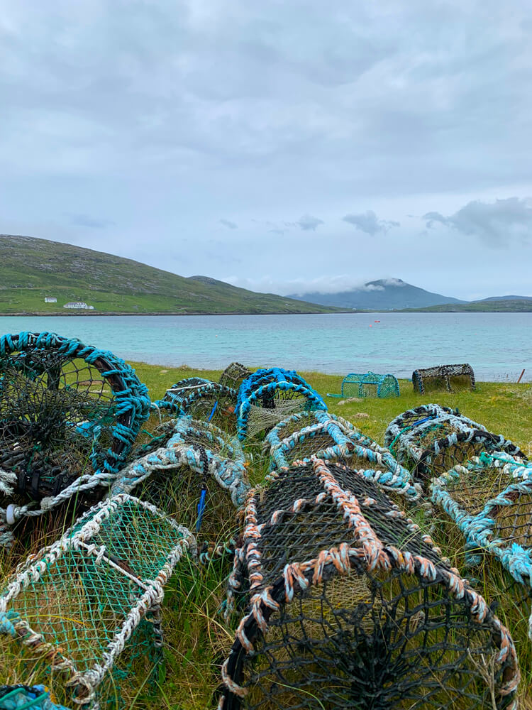 Lobster creels on Vatersay.